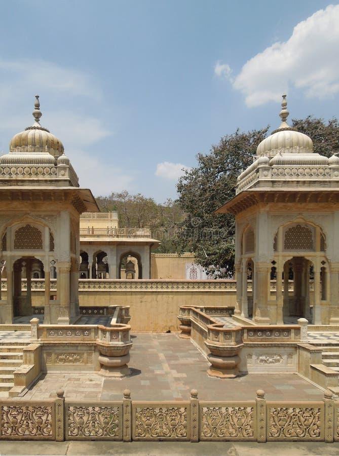 Cenotafios de Gaitore en Jaipur fotos de archivo libres de regalías