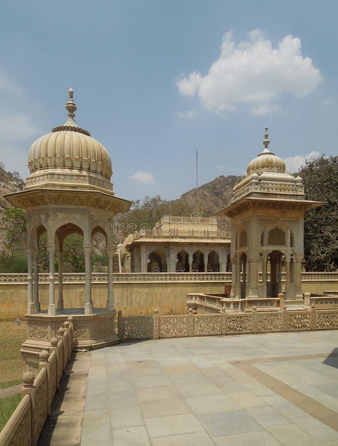 Cenotafios de Gaitore en Jaipur imagen de archivo