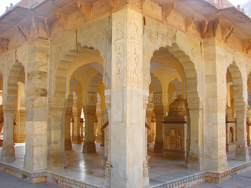 Cenotafios en Gaitore, Jaipur, Rajasthán, la India fotografía de archivo