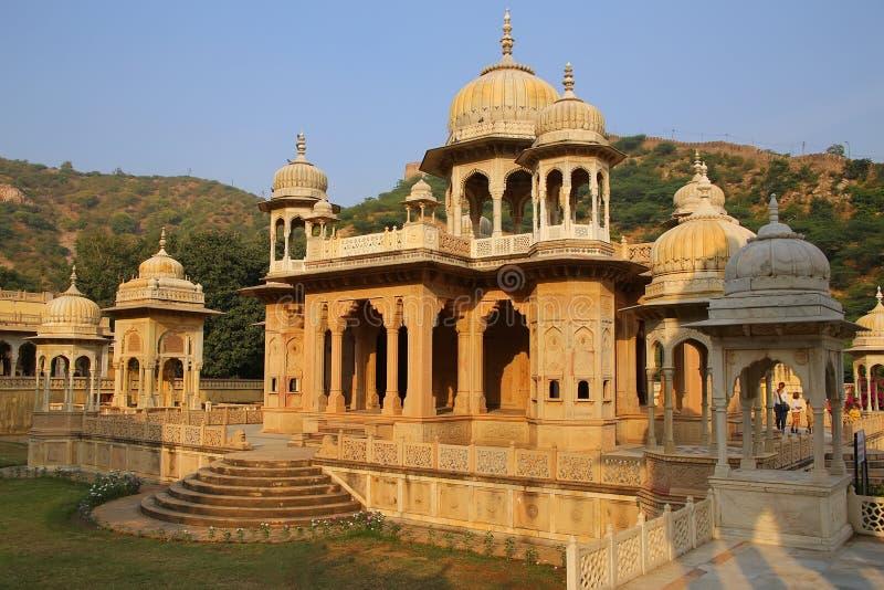 Cenotafios reales en Jaipur, Rajasthán, la India imágenes de archivo libres de regalías