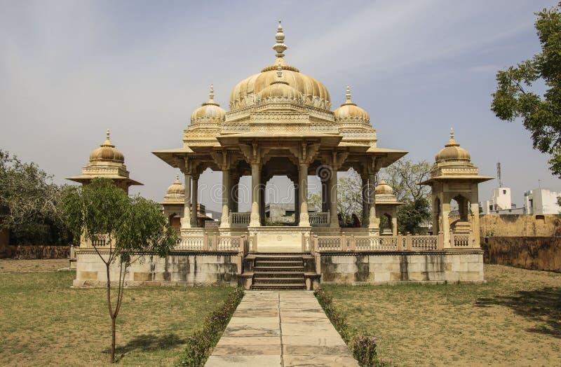 Cenotafios reales en Jaipur, Rajasthán, la India La cremación real fotos de archivo libres de regalías