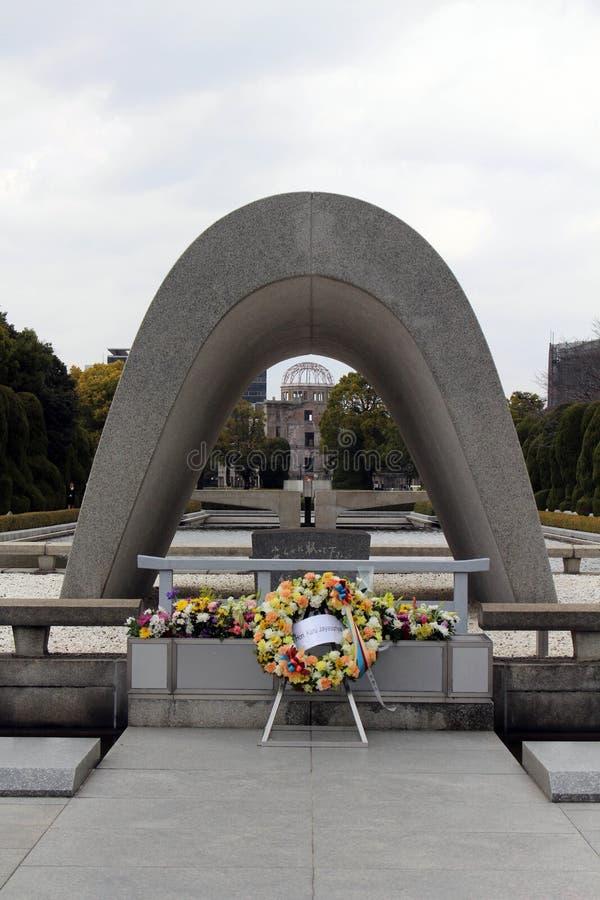 Cenotaph Hiroszima pokój Memorial Park fotografia royalty free