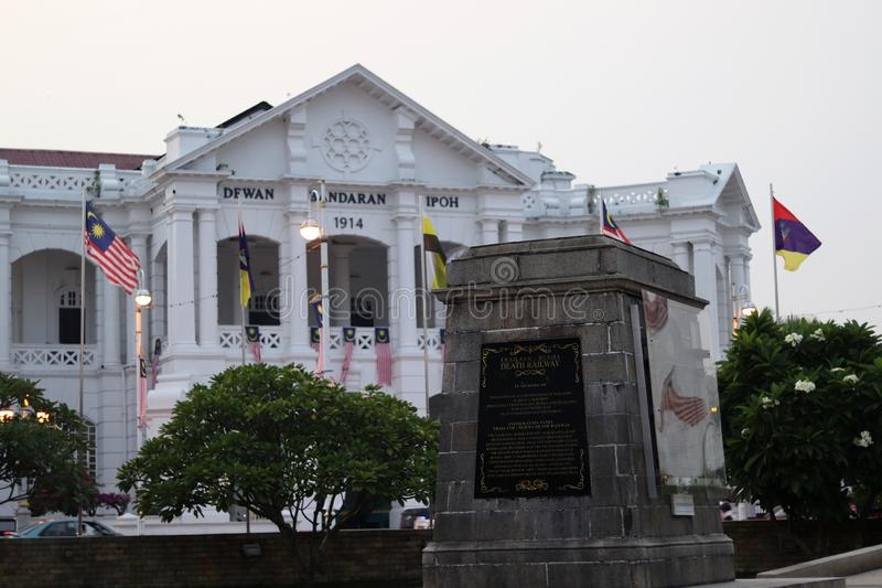 Cenotaph At The Ipoh Railway Station stock images