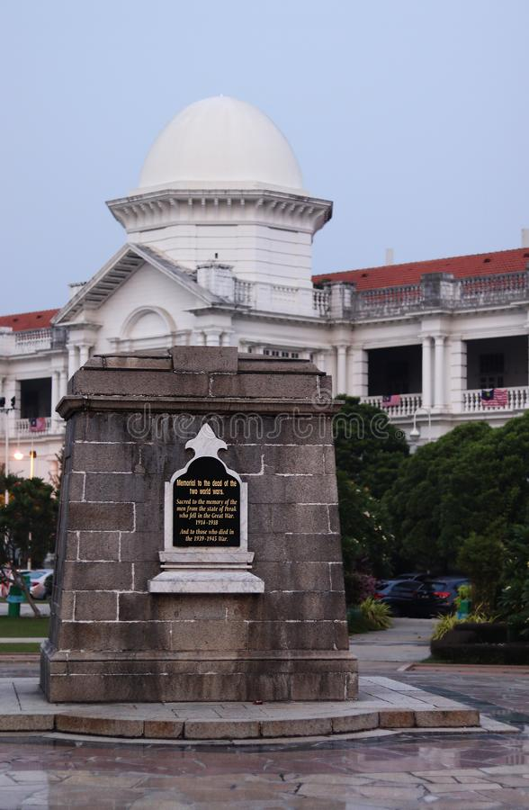 Cenotaph At The Ipoh Railway Station royalty free stock image