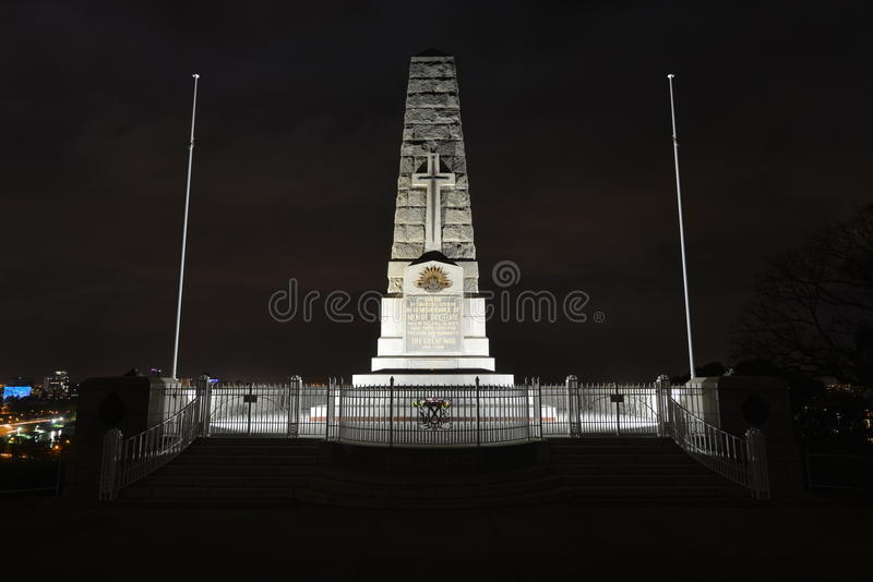 Cenotaph Of The Kings Park War Memorial Royalty Free Stock Photos