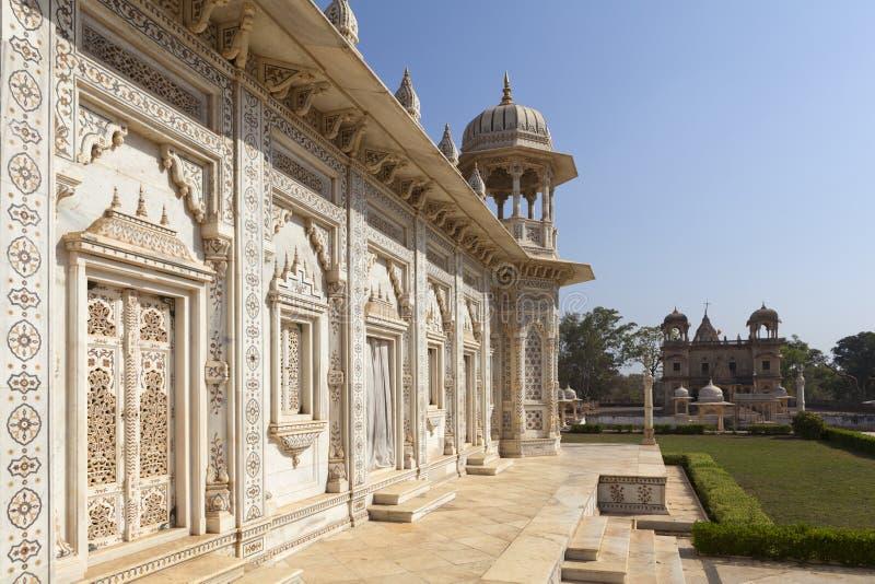 Cenotaphs på Shivpuri royaltyfri foto