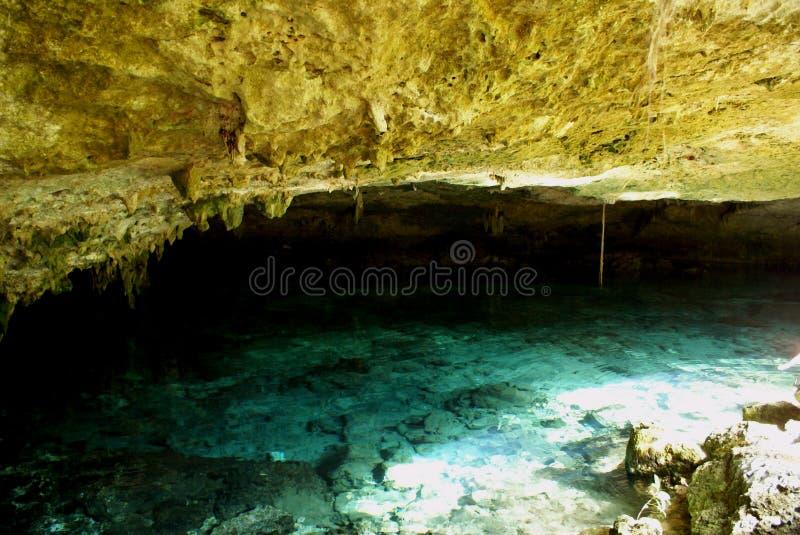 Cenote de dos ojos imagen de archivo