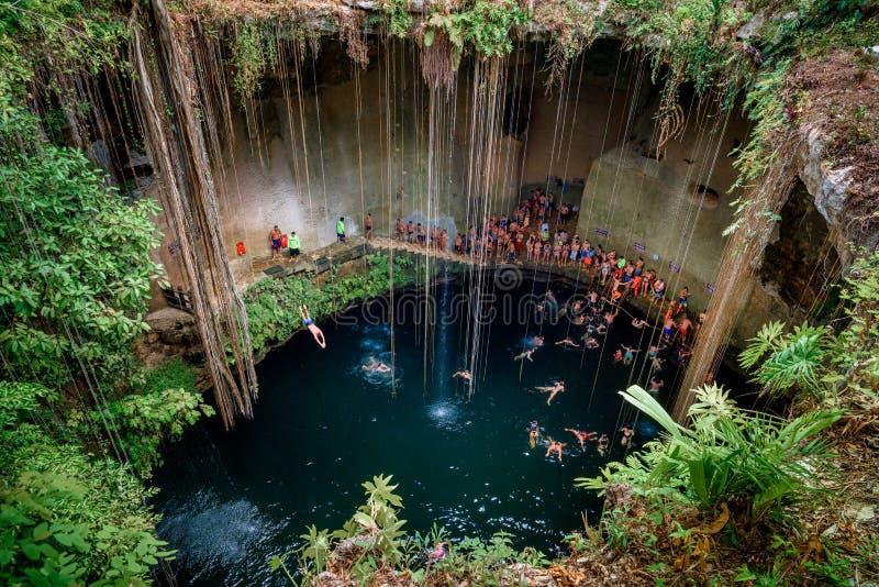 Cenote Ecoturistico Ik-Kil 免版税库存图片