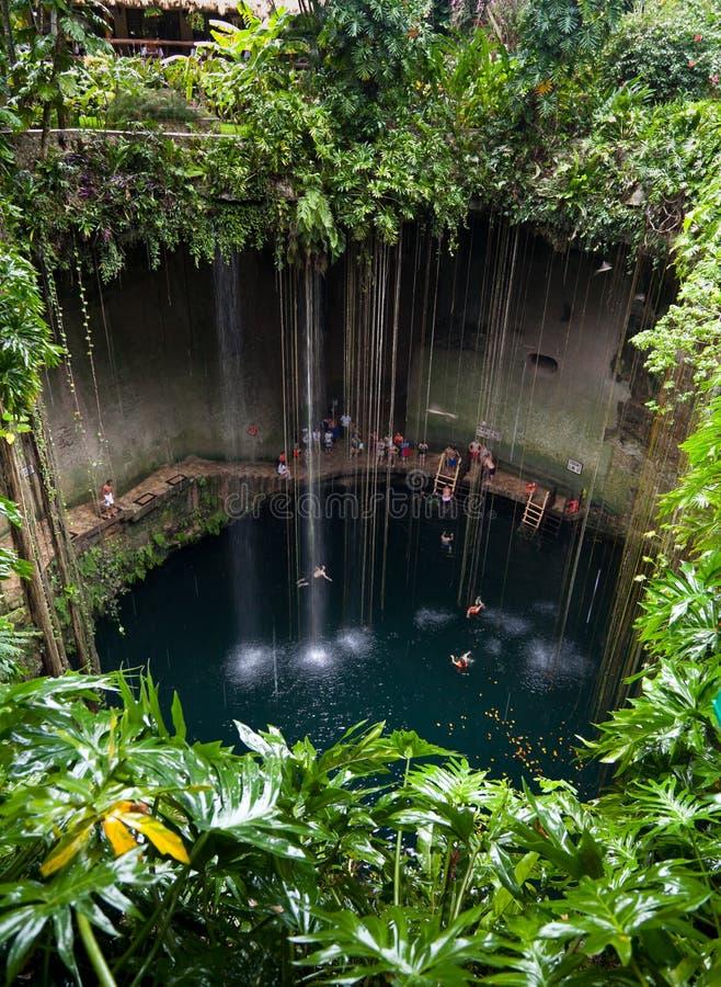 Cenote ik-Kil, Mexico royalty-vrije stock afbeeldingen
