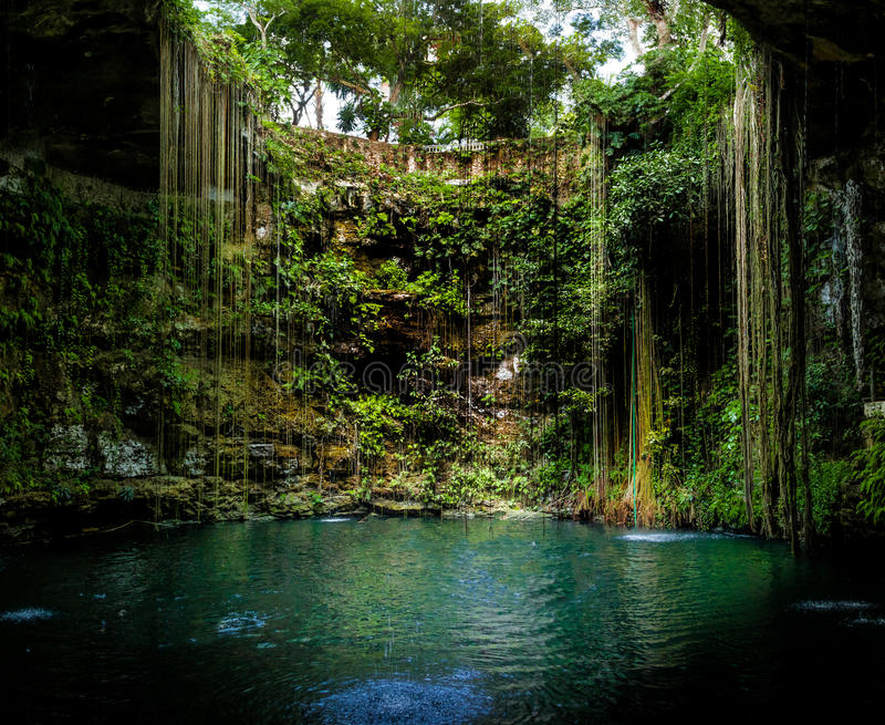 Cenote Ik Kil - Yucatan, Mexique photos libres de droits