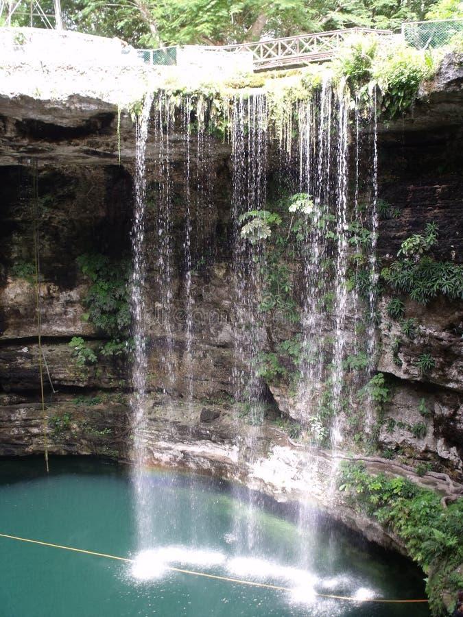 Cenote nära Ek Balam - Mexico royaltyfri fotografi