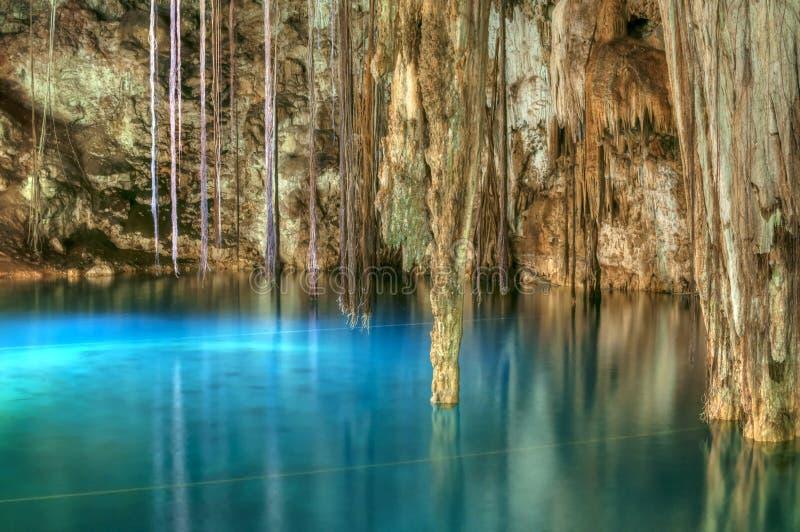 Cenote Xkenken fotos de archivo