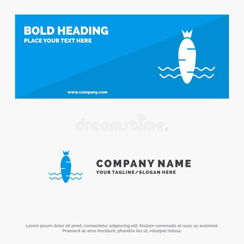 Cenoura, alimento, vegetal, bandeira contínua do Web site do ícone da mola e negócio Logo Template ilustração stock