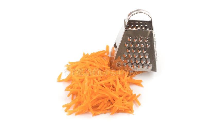 Cenoura raspada fresca imagem de stock