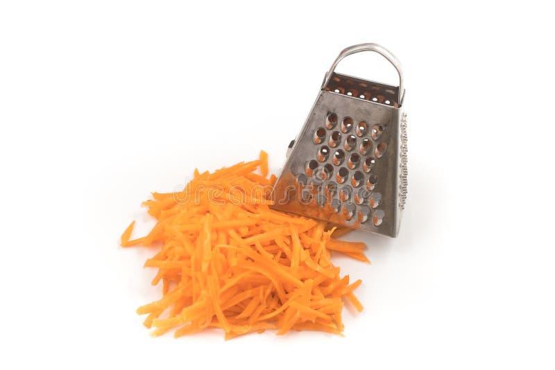 Cenoura raspada fresca imagens de stock