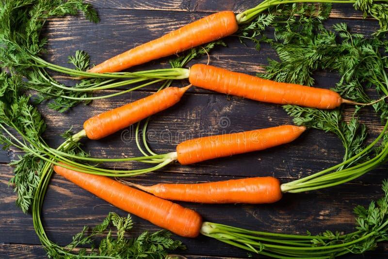 Cenoura vegetal com folhas fotografia de stock