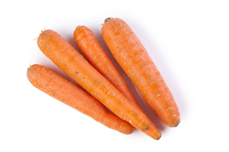 Cenouras alaranjadas fotografia de stock