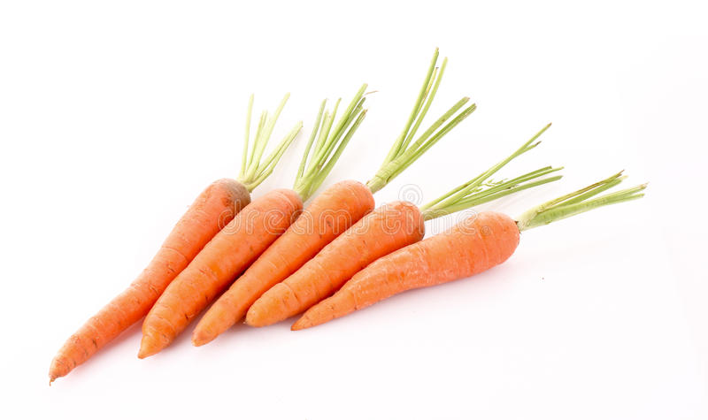 Cenouras isoladas foto de stock royalty free