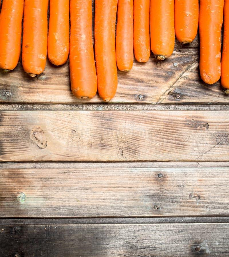 Cenouras maduras frescas imagem de stock