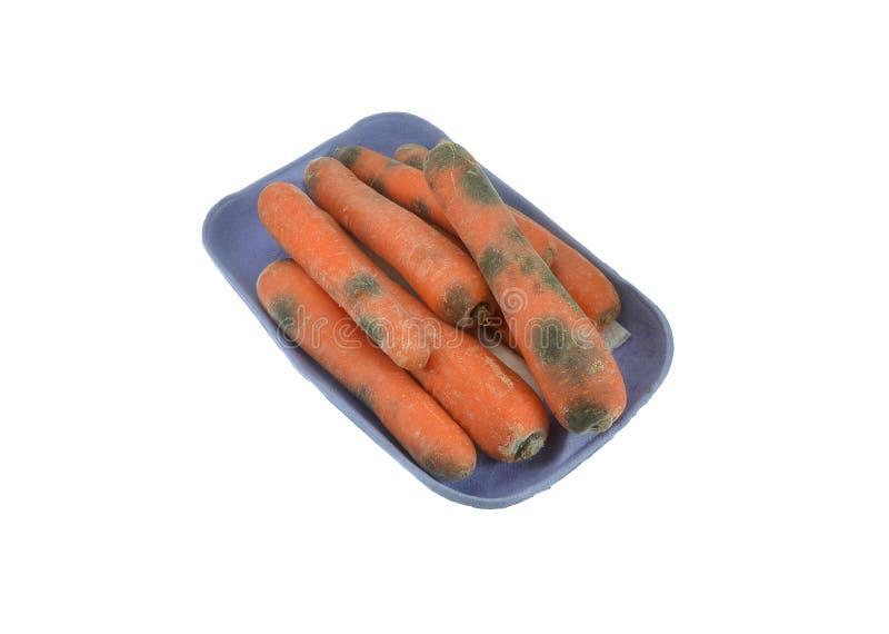 Cenouras mouldy podres fotos de stock