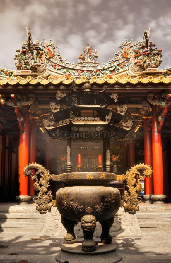 Censer no templo imagens de stock