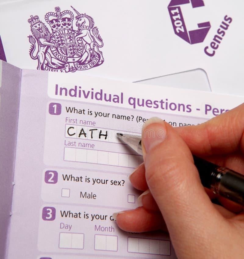 Censimento britannico 2011 fotografia stock libera da diritti