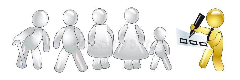 Censo de la población. concepto ilustración del vector