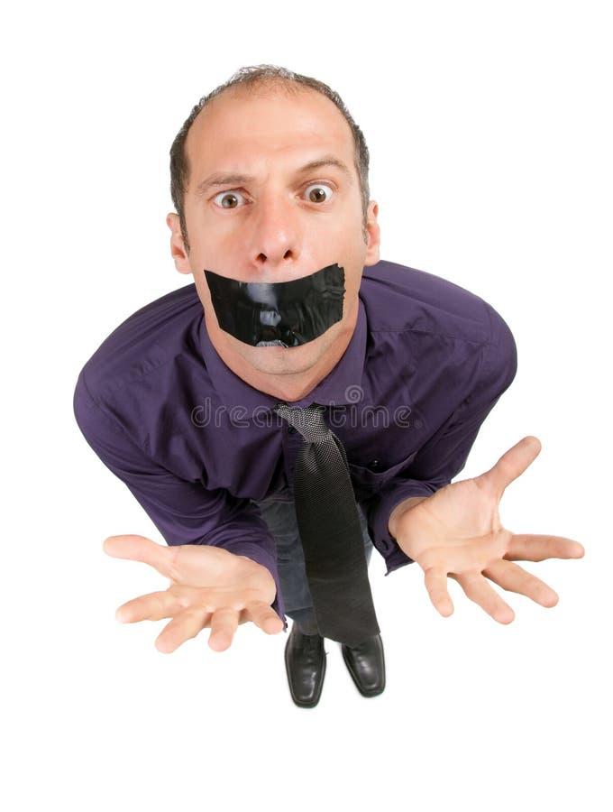 Censored businessman royalty free stock image