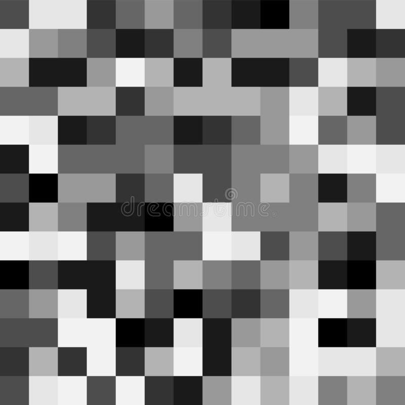 Censorship rectangle. Squre pixel in grey tone color background royalty free illustration