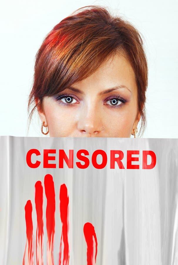 Censura das indicações na parte da cara imagem de stock royalty free