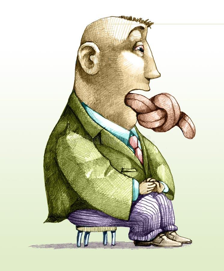 Censure de langue illustration de vecteur
