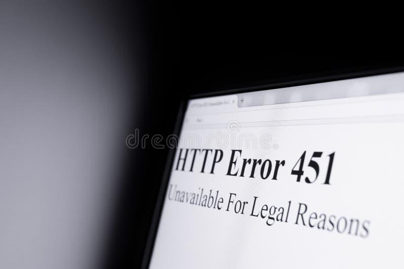 Censure sur l'Internet photos stock