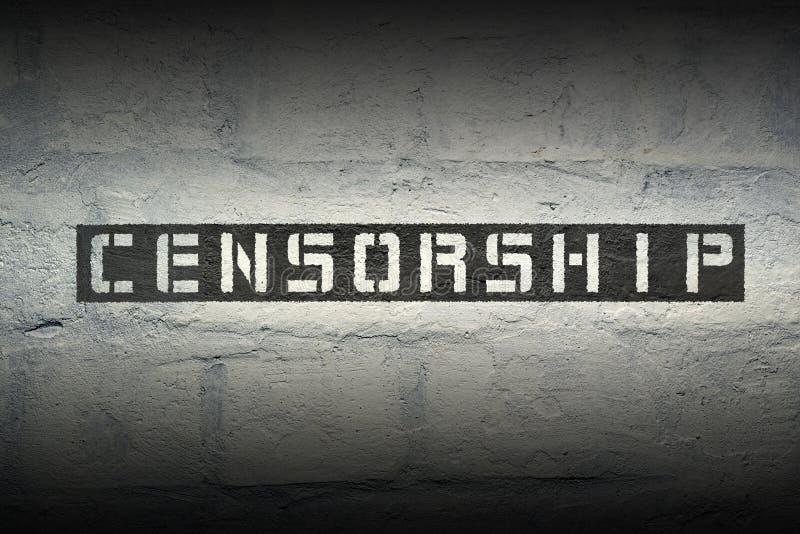 Censure WORD GR photo libre de droits