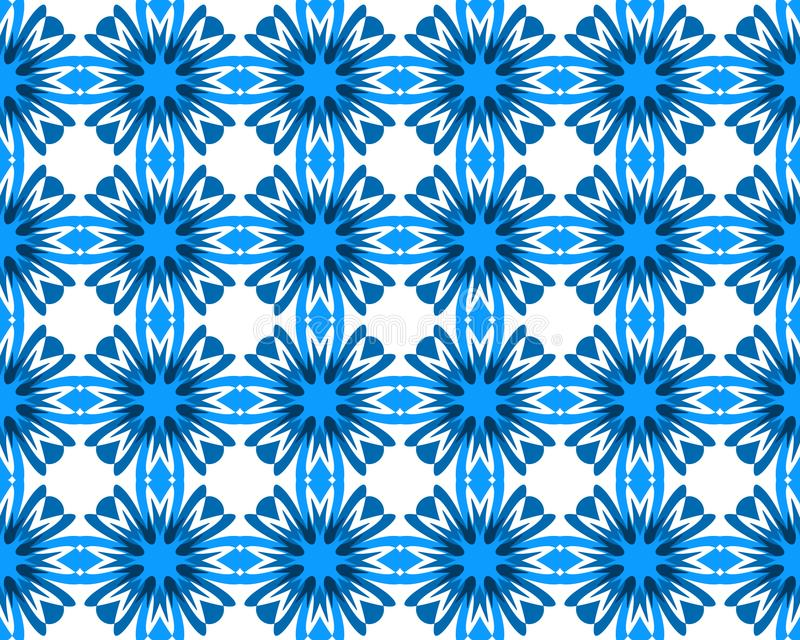 A centáurea azul da geometria abstrata floresce teste padrão sem emenda ilustração royalty free