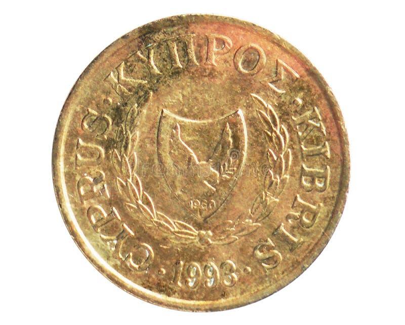 10 centów równiny gołąbka w rękach republika lira/funt cyrkulacji seria, bank Cypr - wielka rok moneta, 19602007 - zdjęcia stock