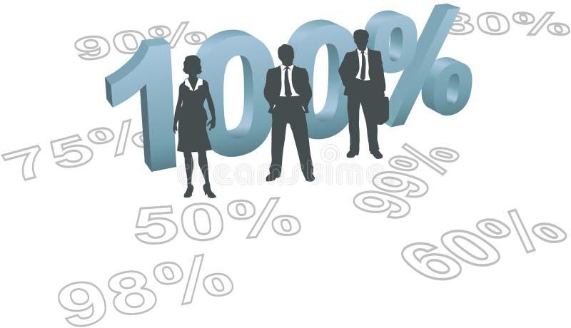 cent 100 väljer försöksfolk per kvalitet stock illustrationer
