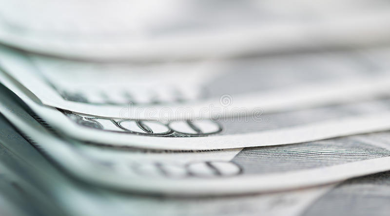 Cent billets d'un dollar image stock
