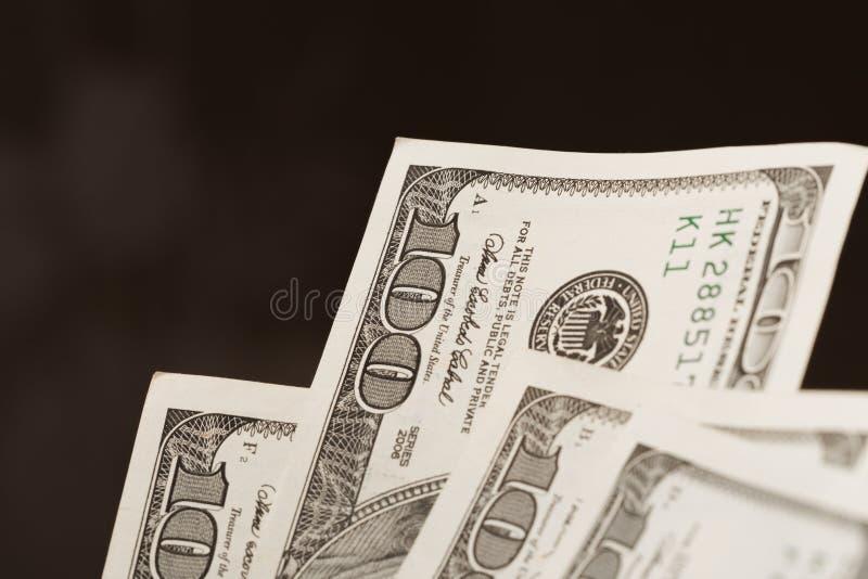 Cent billets de banque du dollar - image image stock