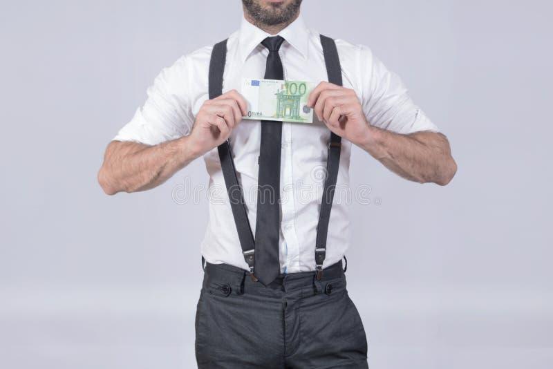 Cent hommes d'euros photo stock