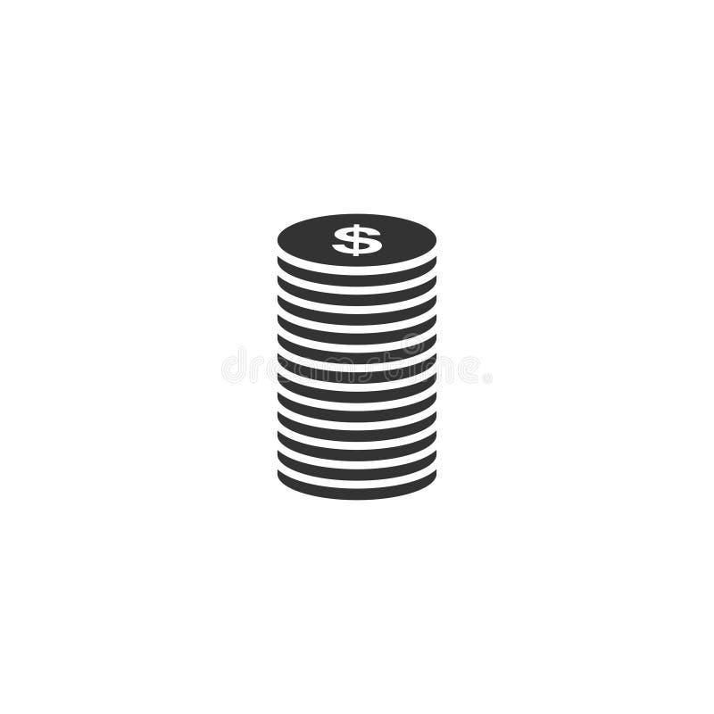 Cent icon icon flat. Cent icon. Black Icon Flat on white background stock illustration