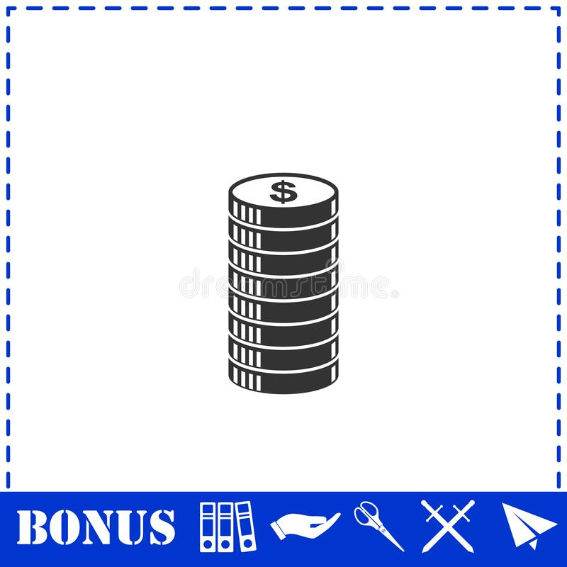 Cent icon icon flat. Simple vector symbol and bonus icon vector illustration