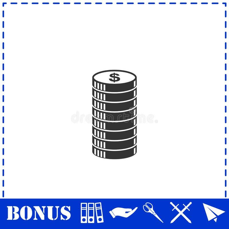 Cent ikony ikony mieszkanie ilustracja wektor