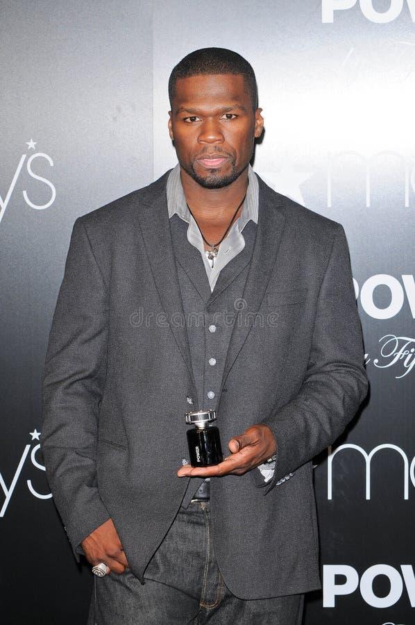 """Cent 50 lanceert de Geur """"Macht van Nieuwe Mensen door 50"""" in Macy, Lakewood, CA. 11-11-09 royalty-vrije stock fotografie"""