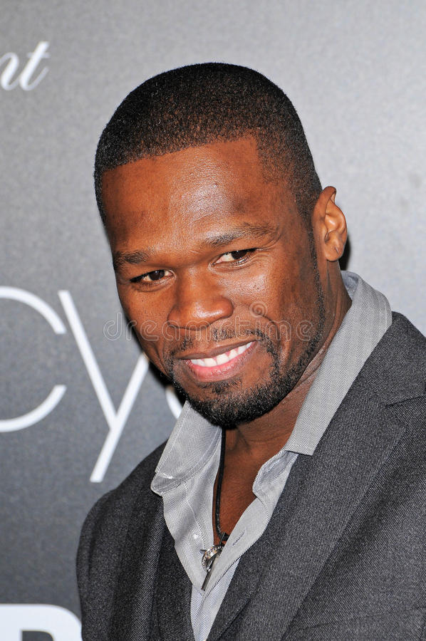50 Cent Launches New Men's Fragrance stock image