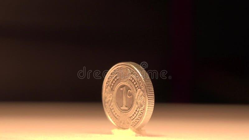 1 Cent Münze Niederlande Stock Video Video Von Auszug 48660415