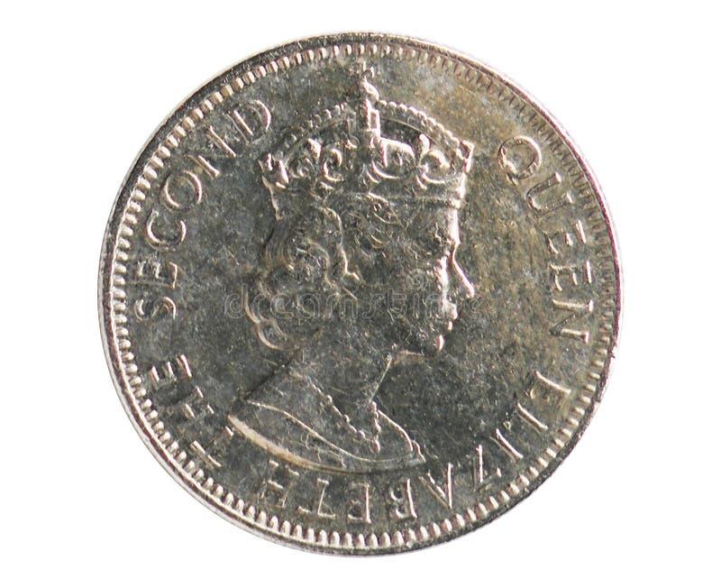 25 cent mynt, 1973~Today - cirkulation - dollarserie, bank av Belize arkivbild