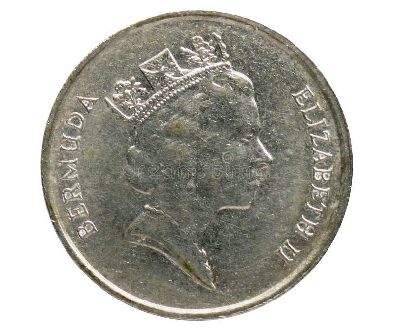 25 cent mynt, 1970~Today - cirkulation - dollarserie, bank av Bermuda arkivbilder