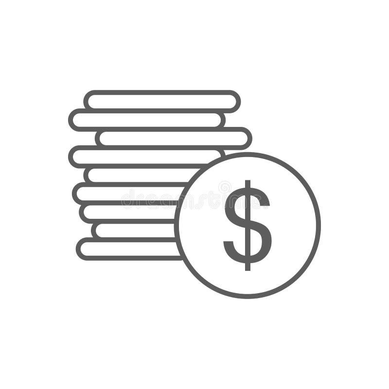 cent pieniądze ikona Element finanse dla mobilnego pojęcia i sieci apps ikony Kontur, cienka kreskowa ikona dla strona internetow royalty ilustracja