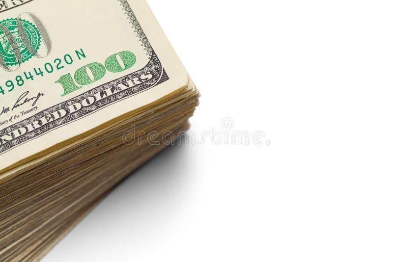 Cent piles Clsoe du dollar  images stock