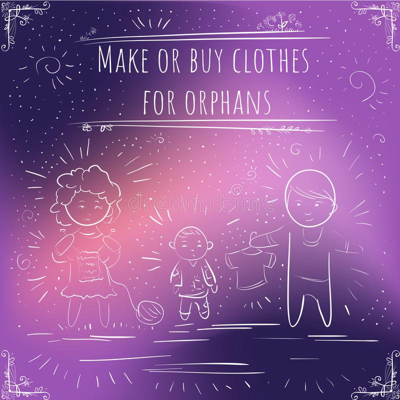 Cent rappels importants - notes - font ou achètent des vêtements pour o illustration libre de droits